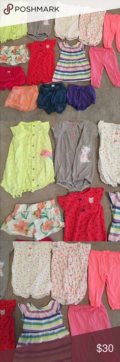 Lot of size 6 months baby girl clothes One-pieces, pants, shorts, and a dress! All excellent condition. Baby girl lot, 6 months, summer clothes Other