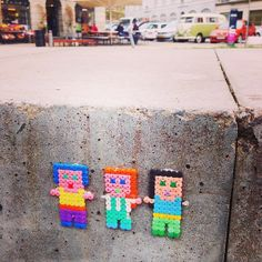 People perler street art by by ABYS Art BY beadS