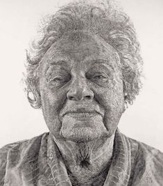 """Fanny/Fingerpainting"" by Chuck Close is created using thousand of fingerprints.  Adjusting the amount of pigment applied to the finger and the pressure used creates a variety of tonal effects as he recreates photos."