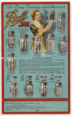 Ball Jar for your canning needs is part of Ball canning jars - Antique Glass Bottles, Antique Glassware, Old Bottles, Glass Jars, Ball Canning Jars, Ball Mason Jars, Vintage Mason Jars, Vintage Bottles, Old Advertisements