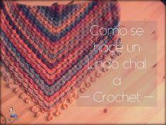 Como se hace un sencillo chal a crochet (diestro) - YouTube