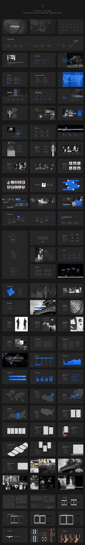 Darking-Minimal Powerpoint Template by dublin_design on @creativemarket