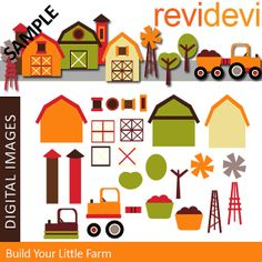 Build Your Little Farm 07328.. Graphic Clip art for by revidevi, $5.95