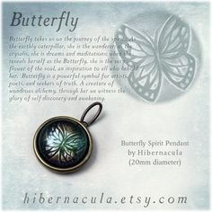 Butterfly Spirit Brass Animal Totem Pendant by Hibernacula