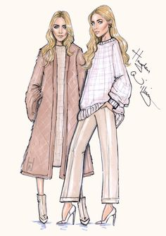 Mary-Kate & Ashley 'Modern Classics' by Hayden Williams. Inspired by 'THE EDIT' cover by NET-A-PORTER.COM