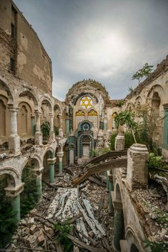 Constanţa, Romania – Ruins of Synagogue Abandoned Buildings, Abandoned Places, Wonderful Places, Beautiful Places, Constanta Romania, Lost Garden, Haunting Photos, Castle Ruins, Old Churches