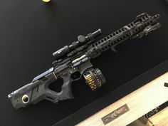 Investment Rate Of Return Weapons Guns, Guns And Ammo, M4 Airsoft, Future Weapons, Custom Guns, Weapon Concept Art, Assault Rifle, Cool Guns, Military Weapons