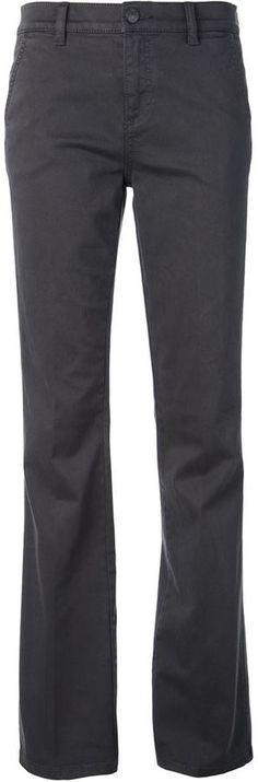 €167, Pantalon large gris foncé Tory Burch. De farfetch.com. Cliquez ici pour plus d'informations: https://lookastic.com/women/shop_items/107072/redirect