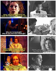 River Song and The Doctor. Their story breaks my heart.