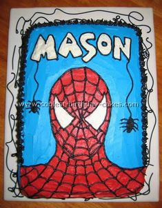 Coolest Homemade Spiderman Cakes