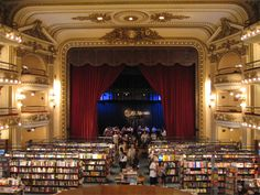 This is a theater that was converted to a bookstore.  So cool. I want to go there.