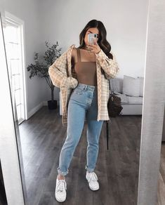 Cute Sweater Outfits, Cute Fall Outfits, Hot Outfits, Trendy Outfits, Fashion Outfits, Autumn Outfits, Style Fashion, Clothing Hacks, Clothes