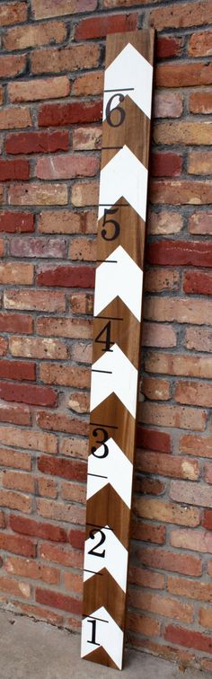 Chevron Wooden Oversized Ruler Growth Chart by jenwoodhouse, $65.00