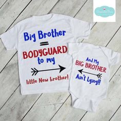 Excited to share this item from my shop: Big Brother Little Brother T-Shirt Creeper Set, Siblings Set, Big Brother Shirt, Kid's Clothing, Little Brother Bodysuit. Big Brother Gifts, Big Brother Little Brother, Big Brother Tshirt, Sibling Shirts, Family Shirts, Custom Baby Onesies, Sibling Photography, Boss Baby, Kids Fashion Boy