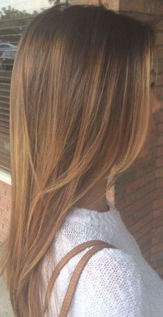 Balayage Straight Hair, Balayage Hair, Haircuts For Long Hair Straight, Layers For Straight Hair, Color Castaño, Hair Color Caramel, Caramel Hair Highlights, Synthetic Hair Extensions, Hair Looks