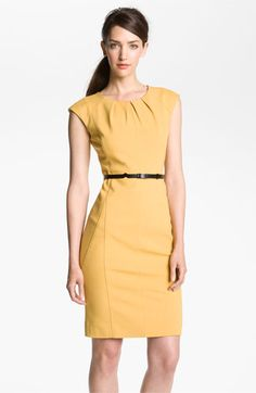 Classiques Entier® Belted Italian Ponte Dress | Nordstrom