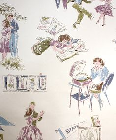 College girl wallpaper from the fifties