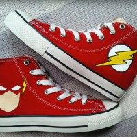 Flash Custom Converse Painted Shoes