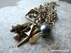 Modernist Charm Bracelet by tippleandsnack on Etsy