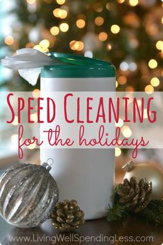 Nobody wants a messy house during the holidays, but who has time to clean?   Practical tips (& a few cheats) for ~~ keeping your house clean during the holidays in just a few minutes a day!  Includes a super cute free printable checklist as well!