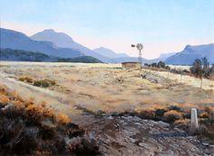 Kalahari Wind Pump.    Rika De Klerk. Finalist in International Artist Landscape Competition.