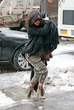 Kim Kardashian West Suits Up in the New Look of Camo – Vogue