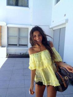 Pinterest @esib123  #fashion #style #inspo Yellow top.