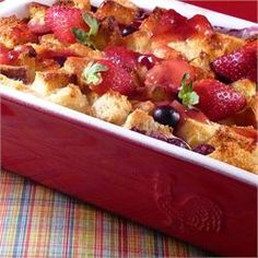 Strawberry Cream Cheese French Toast - Allrecipes.com I've got to make this for my family.  Yum!