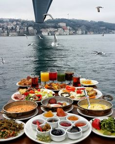 Sunday Breakfast in Lacivert Restaurant, Istanbul. in case if you don't know ho much I love breakfast and Istanbul. or breakfast in Istanbul 💙 Turkish Breakfast, Sunday Breakfast, Restaurant Berlin, Istanbul Travel, Istanbul City, Turkish Delight, Turkish Tea, Food Platters, Turkey Travel