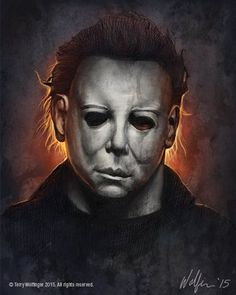 "Horror Movie Art : Halloween 1978 ""Michael Myers"" by Terry Wolfinger Horror Posters, Horror Icons, Horror Films, Film Posters, Halloween Film, Halloween Horror, Halloween 2018, Slasher Movies, Horror Movie Characters"