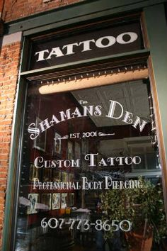 Gorgeous shop! Owner and Body Modification Artist at The Shaman's Den, Daniel Kicinski has been piercing since 1997 and is currently the only Male member of the Association of Professional Piercers (APP) in upstate New York, the only member in Binghamton. I <3 SD!