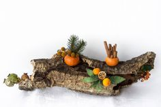 Unique winter centerpiece made by natural cork,Italian Christmas table decoration,Mediterranean style centerpiece,made in Italy mantel decor