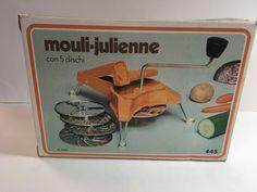 Vintage beige Mouli-Julienne grater by aPEACEofCLOTHING on Etsy