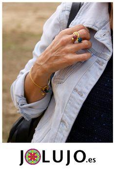 Pulsera Stela ST y anillo Verna. www.jolujo.es