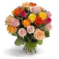 boeket gemixte rozen
