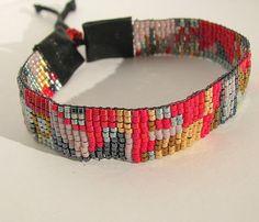 Loomed miyuki delica mix beads bracelet by BijouALaCarte