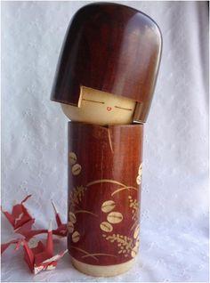 Japanese Kokeshi doll vintage wooden by japanesebee on Etsy