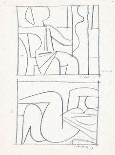 Μόραλης Γιάννης – Yiannis Moralis [1916-2009] | paletaart – Χρώμα & Φώς Picasso Drawing, Greek Paintings, Beige Art, Black And White Sketches, Greek Art, Tapestry Weaving, Figure Painting, Contemporary Paintings, Erotic Art