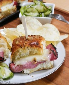 Hot Pastrami Sliders #SundaySupper | Webicurean