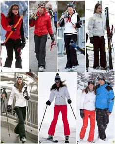 Kate's skiing style!  1: Kate and William were spotted skiing together for the first time in 2004 when they were students at St Andrews and about to begin their final year. On April 1st, the newspapers read 'Finally...Will's Gets A Girl!', revealing the couple's relationship, but it was no April Fools joke. The couple had been dating for about four months at this stage. 2 & 3: Kate went on a trip with the two Princes and Prince Charles. It was the boy's last trip together before their father…