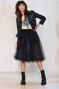 I bought black tulle from Dalston Fabrics to make a skirt.