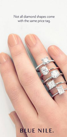 Did you know that choosing a fancyshaped diamond can save you more than versus a round diamond of similar shape and quality Blue Nile offers nine different styles of certified fancyshaped diamonds ranging from princesscut to cushioncut and heart - t Dream Engagement Rings, Engagement Ring Styles, Cute Jewelry, Jewlery, Topaz Gemstone, Anniversary Rings, Blue Topaz, Fashion Rings, Promise Rings