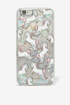 Skinnydip London Glitter Unicorn iPhone 6 Case - Tech | Back In Stock | All Things Glitter | Tech | Accessories | All | Back In Stock | Winter White | Sequins & Glitter | Top Gifts
