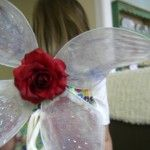 DIY Fairy wings- Tutorial at www.threadbanger.com - 4 coat hangers (or 16 gauge wire) and 2 pair of tights!