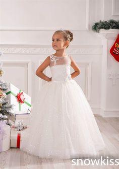 Aliexpress.com  Comprar Brillante brillo del vestido de bola vestidos  floristas lentejuelas blings con cuentas de encaje santa primera comunión  vestido para ... ae4ab2ac3bd6