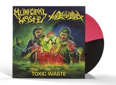 "Municipal Waste / Toxic Holocaust: Toxic Waste Split Vinyl 12"". Just got this as an early Christmas present and it sounds great."