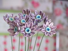 Ceramic flowers Table centerpiece Hostess gift in a color of your choice. $80.00, via Etsy.