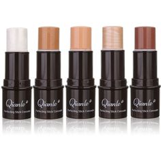 Qianle Concealer Stick Highlighter Flawless Makeup Contour Bronzer Shimmer Blemish 5 Colors featuring polyvore beauty products makeup face makeup concealer beauty
