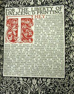 Areopagitica-Milton : Frontispiece-Eragny Press Lucian Pissarro (Camilles eldest son) set up a small Press in London -1894 he was influenced by the Arts&Crafts printers of the day and was befriended and patronised by Charles Ricketts- he used Vale type for most of the thirty or so catalogue- all pocket sized and beautifully bound by his wife Esther