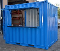 Our in-house-fabricated retail shipping container shops and kiosks are completely customizable, and come in a number of standard and custom sizes. Container Coffee Shop, Container Cafe, Sea Container Homes, Container House Design, Shipping Container Restaurant, Shipping Container Homes, Container Buildings, Container Architecture, Reefer Container